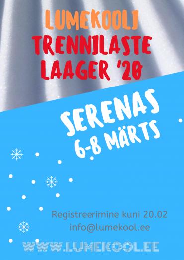 Lumehooaja lõpetamise laager Serenas 6-8 märtsil