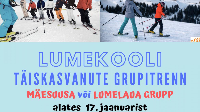 Täiskasvanute grupitreeningud alustavad 17. jaanuaril